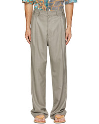 Serapis Grey Striped Worker Pants