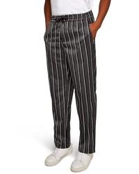 Topman Stripe Wide Leg Joggers
