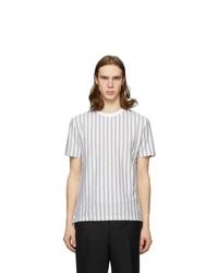 Thom Browne Grey Rwb Stripe Jersey T Shirt