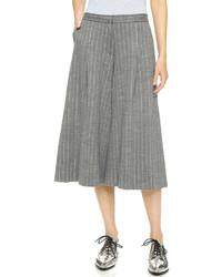 Grey Vertical Striped Culottes