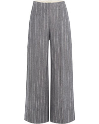 Pinstriped culottes with linen medium 727654