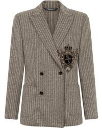 Dolce & Gabbana Appliqu Double Breasted Blazer