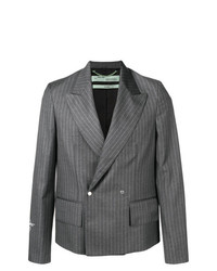 Off-White Fitted Pinstripe Jacket
