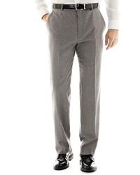 jcpenney Stafford Travel Gray Stripe Flat Front Suit Pants