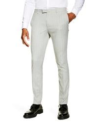 Topman Super Skinny Fit Pinstripe Suit Trousers