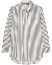 Daddy striped cotton poplin shirt white medium 431450