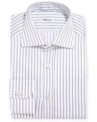 Multi stripe cotton dress shirt gray medium 5253255