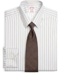 Brooks Brothers Non Iron Milano Fit Tonal Stripe Dress Shirt