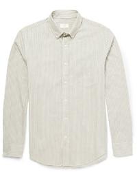 Club Monaco Slim Fit Bengal Striped Cotton Twill Shirt
