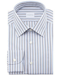 Ermenegildo Zegna Striped Dress Shirt Bluegray