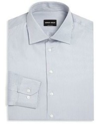Giorgio Armani Striped Regular Fit Dress Shirt