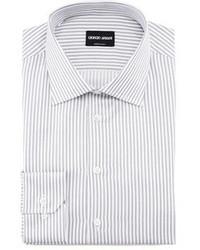 Track stripe dress shirt gray medium 21688