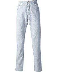 Jacob cohen striped straight fit jean medium 228224