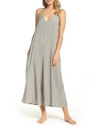 Grey Vertical Striped Jumpsuit