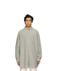 Maison Margiela Grey Linen Stripes Shirt