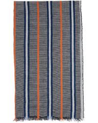 Loewe Black White Paulas Ibiza Linen Craft Scarf