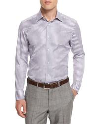 Bold striped long sleeve sport shirt medium 713324