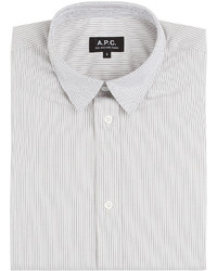 A.P.C. Cotton Micro Stripe Long Sleeve Shirt