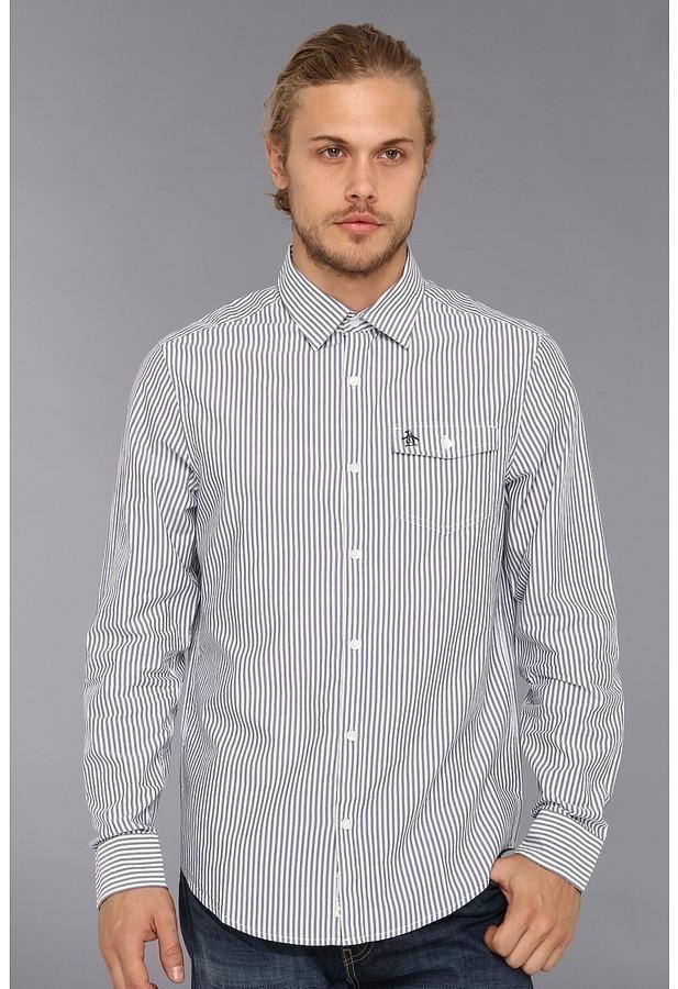 Original Penguin Heritage Fit The P55 Stripe Shirt Apparel | Where ...
