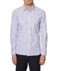 Hickey Freeman Regular Fit Stripe Button Up Shirt