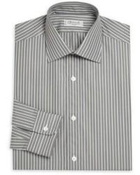 Charvet Regular Fit Striped Cotton Dress Shirt
