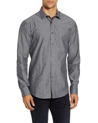 Vince Camuto Slim Fit Dobby Stripe Button Up Shirt