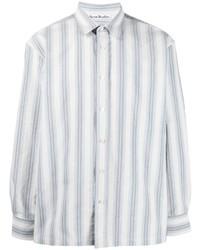 Acne Studios Spread Collar Striped Shirt
