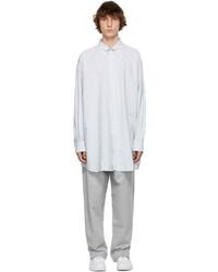 Maison Margiela White Grey Oversized Stripe Shirt