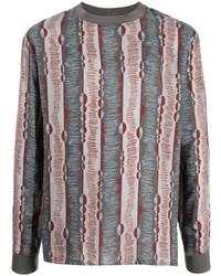 Giorgio Armani Ribbed Collar Stripe T Shirt