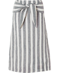 J.Crew Wreck Striped Linen Midi Skirt