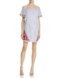 Piper Sarah Stripe Ruff Sleeve Dress 100%