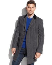 Grey herringbone overcoat medium 371760
