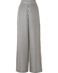 Zimmermann Striped Satin Twill Wide Leg Pants