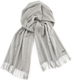 97c43d41b Loro Piana Baby Cashmere Striped Scarf Gray