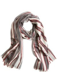 Brooks Brothers Silk Stripe Scarf