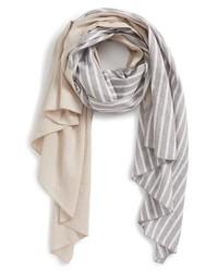 Donni Charm Diagonal Print Cotton Linen Scarf