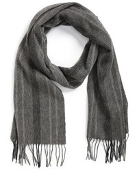 Armani Collezioni Grey Striped Scarf   Where to buy   how to wear b07fc6bd43f