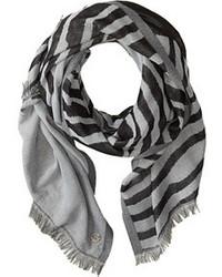 Calvin Klein Zebra Jacquard Color Block Scarf