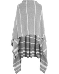 Striped cashmere wrap medium 164732