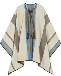 Talitha Striped Cashmere And Wool Blend Cape