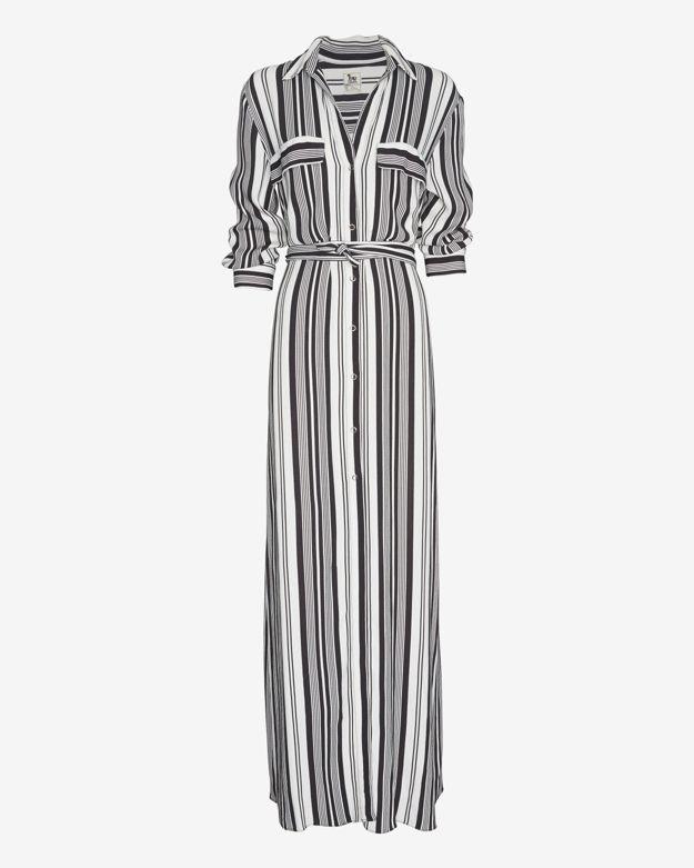 702cb87be1d2 L'Agence Striped Maxi Shirtdress, $295 | Intermix | Lookastic.com