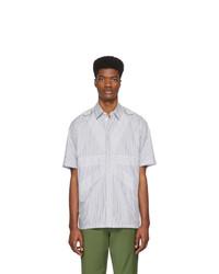 Stella McCartney Grey And White Nicholai Short Sleeve Shirt