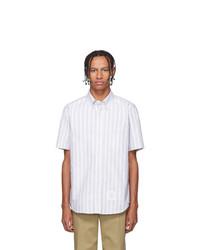 Thom Browne Grey Striped Short Sleeve Shirt