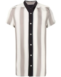 Rick Owens Striped Short Sleeved Shirt