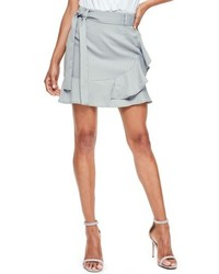 Missguided Pinstripe Faux Wrap Shorts