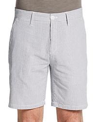 Saks fifth avenue black striped cotton shorts medium 231481