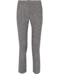 Grey Vertical Striped Skinny Pants