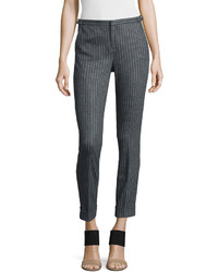 Adjustable pinstripe cropped dress pants medium 656384
