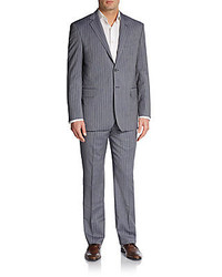 Modner fit striped wool suit medium 184288