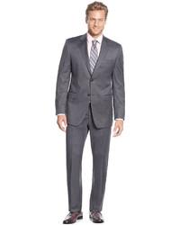 Lauren Ralph Lauren Slim Fit Medium Grey Stripe Suit